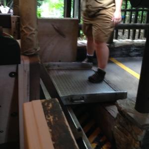 Handicap Ramp at Disney World Kilimanjaro Safari Ride